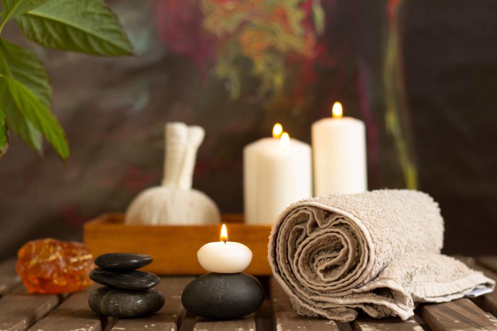 massage d'apaisement et de réconfort aux pierres chaudes